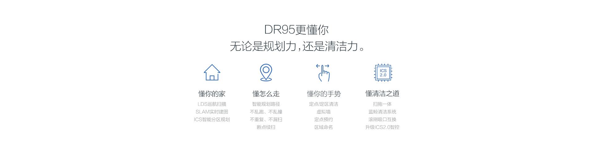 DR95,無論是規劃力還是清潔力