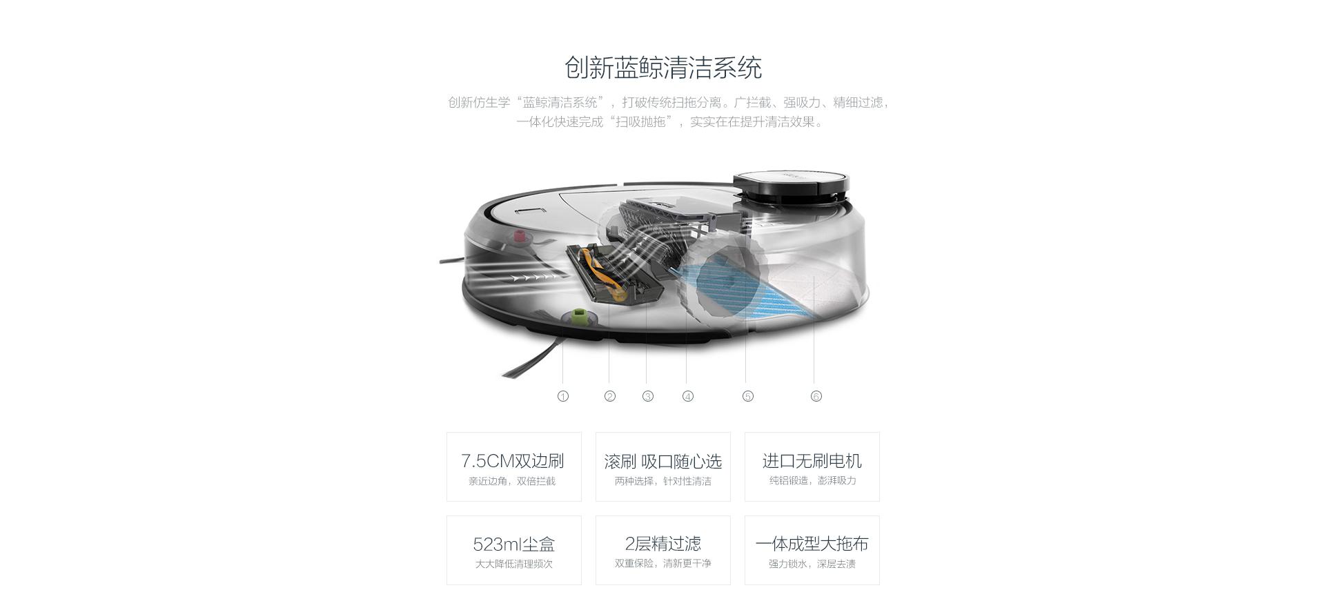 科沃斯掃地機器人地寶DR95(靜云):創新藍鯨清潔系統